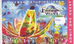 Passeport Entreecard JAPON * SESAME STREET * Passport (1101) JAPAN * UNIVERSAL STUDIOS * CINEMA * FILM - Film