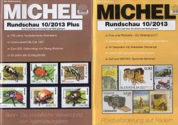 MICHEL Briefmarken Rundschau 10/2013 Und 10 Plus Neu 10€ New Stamps/coins Of The World Catalogue And Magacine Of Germany - Télécartes