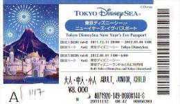 Disney Passeport Entreecard JAPON * TOKYO DISNEY SEA *  Passport (1117) JAPAN * - Disney