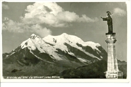 7-sudam10. Postal Bolivia. El Cristo Del Alto Y El Illimani - Bolivia