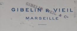 MARSEILLE Imprimerie GIBELIN & VIEIL Chèque Encre En Relief 1924 - Drukkerij & Papieren