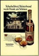 Reklame Werbeanzeige  -  Scharlachberg Meisterbrand Weckt Freude Am Schönen  -  Von 1970 - Alkohol