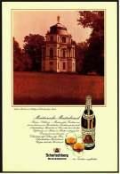 Reklame Werbeanzeige  -  Scharlachberg Meisterbrand  -  Teehaus Belvedere Im Schloßpark Charlottenburg - Alkohol