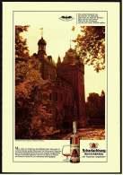 Reklame Werbeanzeige  -  Scharlachberg Meisterbrand  -  Schloß Harff Bei Grevenbroich  -  Von 1968 - Alkohol
