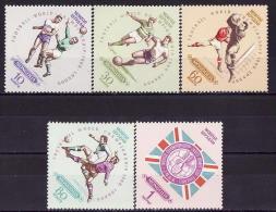 41-993 // MON - 1966  FOOTBALL  WORLD  CUP - ENGLAND  Mi 420/24 ** - Mongolei