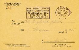 MILITAIRE BRIEFKAART 1946   2 SCANS