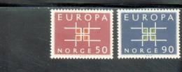 CEPT Ornament Norwegen 498 - 99 ** Postfrisch MNH - Europa-CEPT