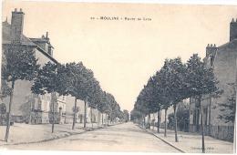 MOULINS  Route De  LYON  - écrite  TTB - Moulins
