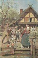 AK Rotes Kreuz Wohlfahrtskarte Heimaturlaub C. Röchling Color 1916 #10 - Croix-Rouge