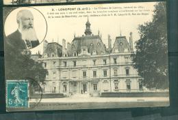 """LONGPONT , Le Chateau De Lormoy , Résidence D""""'été De S.M. Léopold II , Roi Des Belges  Abs90 - Frankreich"""