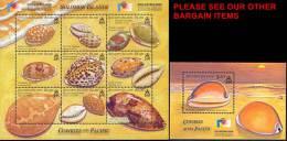"Solomon Islands 2002 Shells M/S + S/S SC#943-44 MNH CV$26.00  MARINE LIFE, STAMP SHOW ""PHILAKOREA"" - Solomon Islands (1978-...)"