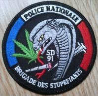 Ecusson Police Nationale - SD 91 Brigade Des Stup - Police & Gendarmerie