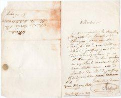 VP342 - TORCY 1840 - Lettre Pour Me BURDEL à  LAGNY - Manuscrits