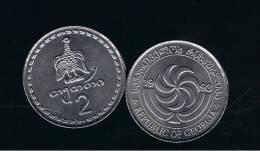 GEORGIA - 2 Thetri  1993  KM77 - Eagle Animal Coin - Georgia