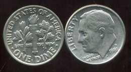 UNITED STATES - USA - 10 Cents  Dimes  1981 D - Émissions Fédérales