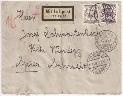 B94 - WIEN FLUGPOST - 1927 - Pour FLUGPLATZ ZURICH - - Luchtpost