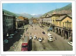 Cpsm Aoste Aosta Place Chanoux Autocar Ancien - Aosta