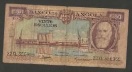 [NC] BANCO De ANGOLA - 20 ESCUDOS (1956) - Angola