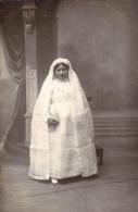 76 BLEVILLE LE HAVRE 1900 ?? PHOTO CARTE GERMAINE BERTHELOT FILLE DE EMILE NIECE ?? DE EDOUARD DE VALMONT GROS PLAN TBE - Le Havre
