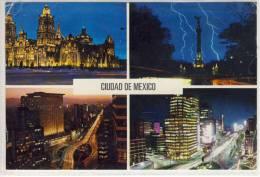 Ciudad De MEXICO - Catedral, Monumento Independencia, Hotel Fiesta Palace, Paseo De La Reforma   1961 - México