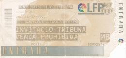 España--Futbol--F.C.Barcelona--Rayo Vallecano--Jornada 24--1999 - Tickets - Entradas