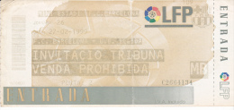 España--Futbol--F.C.Barcelona--U.E.Lleida--Jornada 26--1999 - Tickets - Entradas