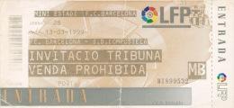 España--Futbol--F.C.Barcelona--S.D .Compostela--Jornada 28--1999 - Tickets - Entradas