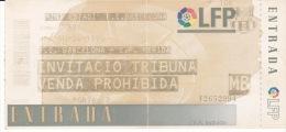 España--Futbol--F.C.Barcelona--C.P.Merida--Jornada 32--1999 - Tickets - Entradas