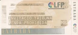 España--Futbol--F.C.Barcelona--CD.Badajoz--Jornada 34--1999 - Tickets - Entradas
