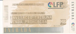 España--Futbol--F.C.Barcelona--CD. Badajoz--Jornada 34--1999 - Tickets - Entradas