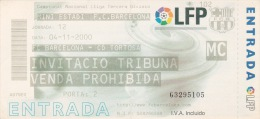 España--Futbol--F.C.Barcelona--CD Tortosa--Jornada 12--2000 - Tickets - Entradas