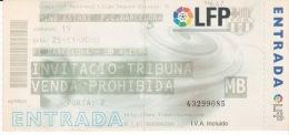 España--Futbol--F.C.Barcelona--UD Alzira--Jornada 15--2000 - Tickets - Entradas