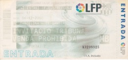 España--Futbol--F.C.Barcelona--CF Gandia--Jornada 17--2000 - Tickets - Entradas