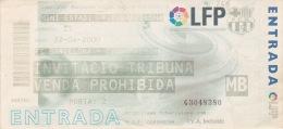 España--Futbol--F.C.Barcelona--CD Premia--Jornada 35--2000 - Tickets - Entradas