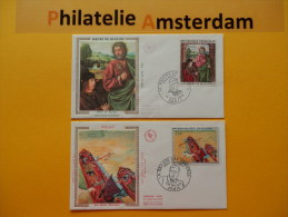 France 1972, FDC OEUVRES D'ART KUNSTWERKEN BOURBON MOULINS DE DERAIN: Mi 1810, 1814, Y&T 1732-33, - FDC