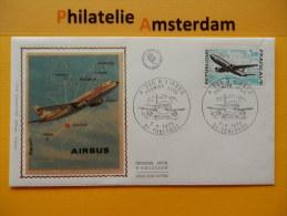 France 1973, FDC GRANDE RÉALISATIONS A 300 B AIRBUS / AVIONS AIRPLANES VLIEGTUIGEN: Mi 1825, Y&T 1751, - FDC