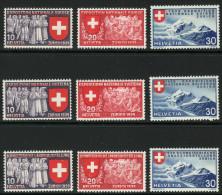 SUISSE 1939 9 TP Exposition Internationale De Zurich Y&T N° 320 à 328 Neuf * - Schweiz