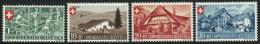 SUISSE 1945 4 TP Fête Nationale Y&T N° 419 à 422 Neuf ** (petites Traces Noires Sur Gomme) - Schweiz