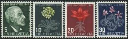 SUISSE 1947 4 TP Timbres Pour La Jeunesse Y&T N° 445 à 448 Neuf ** (petites Traces Noires Sur Gomme) - Schweiz