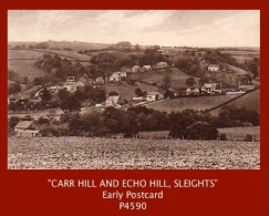 """P4590  """"CARR HILL AND ECHO HILL, SLEIGHTS""""  (1910's. B/w Matt Real Photo Postcard) - Unclassified"""