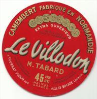 étiquette De Fromage:   Camembert  : Villers  Bocage    Calvados  , Le    Villodon - Fromage