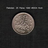 PAKISTAN   25  PAISA  1980  (KM # 37) - Pakistan