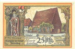 Jüterbog  25 Pfennig  1. Oct. 1920   Abtshof   Und Heilige Geist Kapelle   Schneidewein  Reformation - Lokale Ausgaben