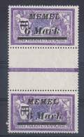 MEM 61 - MEMEL Mersons N° 73 Avec Pont Interpanneau Et Variété : Décallage De MEMEL Vers La Droite Neufs** - Memel (1920-1924)