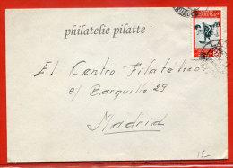 MAROC ESPAGNOL LETTRE DE 1951 DE LARACHE POUR MADRID ESPAGNE - Spanisch-Marokko