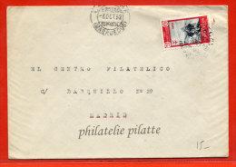 MAROC ESPAGNOL LETTRE DE 1952 DE LARACHE POUR MADRID ESPAGNE - Spanisch-Marokko
