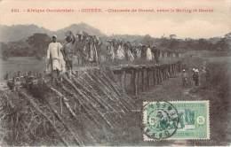 Guinée - Chaussée De Douné, Entre Le Bafing Et Douné (tampon Paquebot Afrique Via Bordeaux) - French Guinea