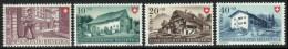 SUISSE 1949 4 TP Fête Nationale Y&T N° 477 à 480 Neuf ** - Schweiz