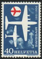 """SUISSE 1956 1 TP 25ème Anniversaire De La Compagnie Aérienne """"Swissair"""" Y&T N° 575 Neuf ** - Switzerland"""