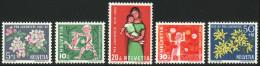 SUISSE 1962 5 TP Surtaxe Pour La Jeunesse Y&T N° 700 à 704 Neuf ** - Suisse